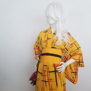 Casual punk kimono and modern style obi